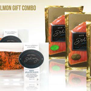 Gourmet Natural Smoked Salmon Gift Combo  (3 x 4Oz  Pres